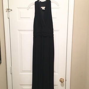 Evan Piccone Long Halter Evening Gown